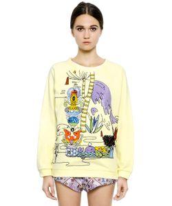 Mary Katrantzou   Embroidered Cotton Sweatshirt