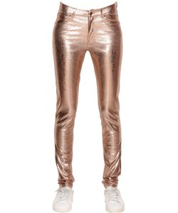 Mes Demoiselles | Glitter Crackled Laminated Stretch Pants
