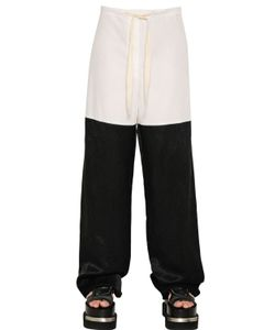 Mm6 Maison Margiela | Cotton Poplin Draped Viscose Pants