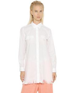 Mm6 Maison Margiela   Techno Cotton Toile Fringed Shirt