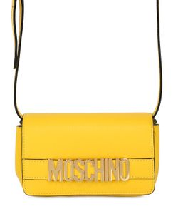 Moschino | Logo Lettering Leather Shoulder Bag
