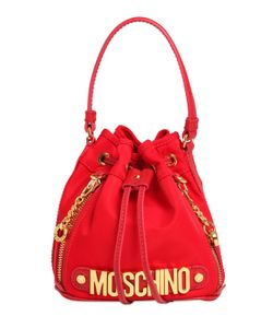 Moschino | Mini Logo Lettering Nylon Bucket Bag