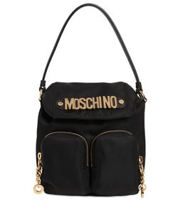 Moschino | Logo Lettering Nylon Shoulder Bag