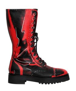 Moschino | 40mm Shadow Leather Boots