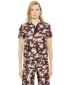 Mother Of Pearl | Javel Floral Cotton Silk Polo Shirt
