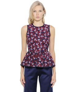 Mother Of Pearl | Floral Printed Stretch Jersey Peplum Top