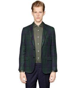 Mp Massimo Piombo   Linen Cotton Black Watch Jacket