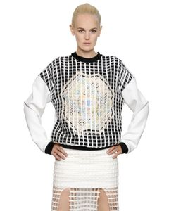Natargeorgiou | Cotton Crochet Neoprene Sweatshirt