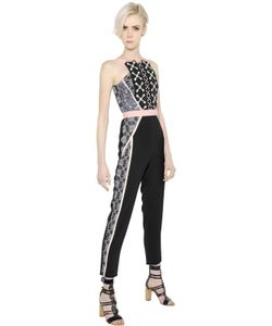Peter Pilotto | Crepe Jacquard Jumpsuit With Lace
