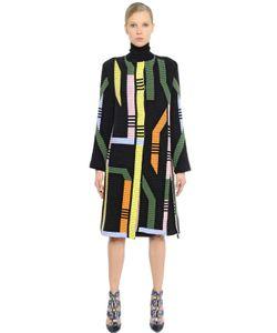 Peter Pilotto | Geometric Ribbed Merino Wool Blend Coat