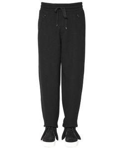 Ports 1961 | 20cm Wool Cotton Jersey Jogging Pants