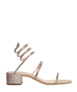 Rene Caovilla | 40mm Satin Swarovski Wrap Sandals