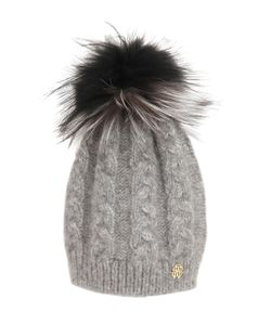 Roberto Cavalli | Wool Blend Hat W/ Fox Fur Pompom