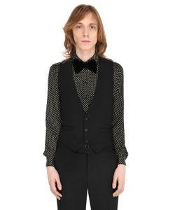 Saint Laurent | Wool Crepe Tuxedo Vest