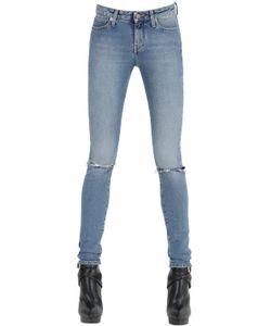 Saint Laurent | Destroyed Cotton Denim Jeans