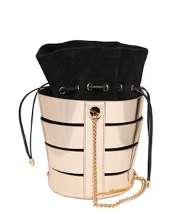 Salvatore Ferragamo | Cutout Metallic Nappa Bucket Bag