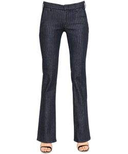 Seafarer | Francis Pinstripe Stretch Cotton Denim
