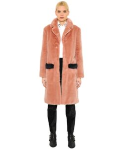 Shrimps | Faux Fur Coat With Contrast Trim