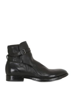 Silvano Sassetti | Washed Horse Leather Belted Boots