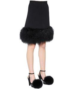 Sonia Rykiel | Mongolia Fur Wool Crepe Skirt