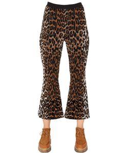 Stella McCartney | Flared Leopard Wool Blend Jacquard Pants
