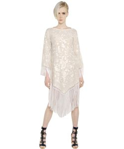 Talitha | Fringed Embroidered Silk Georgette Dress