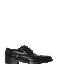 Tod's | Brushed Leather Brogue Derby Shoes