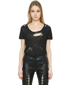 Unravel | Destroyed Cotton Jersey Bodysuit