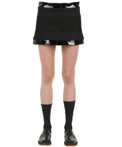 Wanda Nylon | Lisa Wool Vinyl And Mesh Mini Skirt