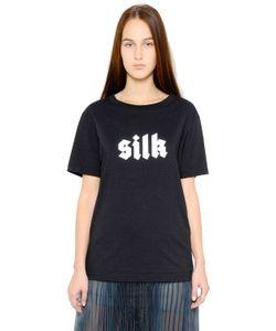 Yang Li   Silk Printed Cotton T-Shirt