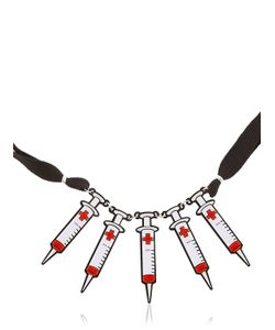 Yazbukey | Syringe Necklace