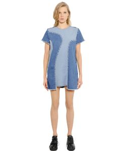 House Of Holland | Patchwork Cotton Denim Dress