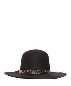 Htc Hollywood Trading Company   Wool Felt Brimmed Hat W/ Studded Hatband
