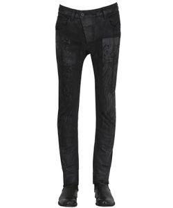 11 By Boris Bidjan Saberi | Destroyed Coated Stretch Denim Jeans