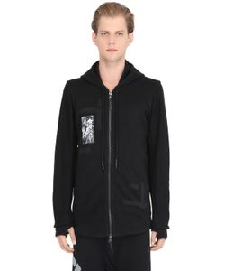 11 By Boris Bidjan Saberi | Hooded Patched Zip-Up Cotton Sweatshirt