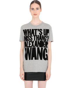 House Of Holland   Alexander Wang Cotton Jersey T-Shirt