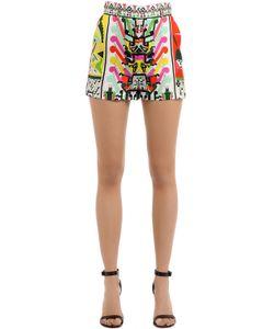 Emilio Pucci   Printed Maya Silk Twill Shorts