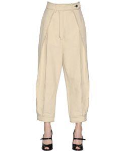 Sportmax | Pleated Cotton Linen Canvas Pants