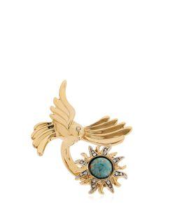 Roberto Cavalli | Swarovski Bird Sun Brass Ring