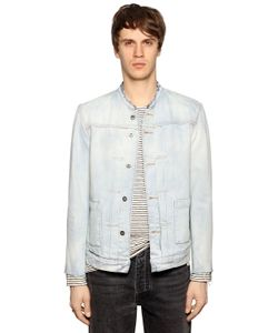 LEVI'S MADE & CRAFTED   Washed Denim Jacket W Raw Cut Edges