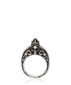 Alexander McQueen | Skulls Snakes Engraved Ring