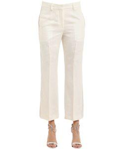 Calvin Klein Collection | Herringbone Linen Pants