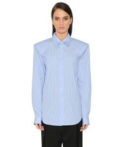 Jil Sander   Oversized Shoulders Striped Poplin Shirt