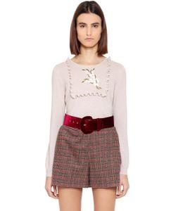 Blugirl | Embroidered Wool Blend Sweater