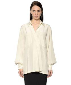 Sportmax | Oversized Matte Silk Satin Shirt