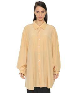 Jil Sander   Oversized Silk Crepe De Chine Shirt