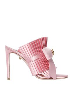 Fausto Puglisi | 100mm Ruffled Satin Mules W/ Bow
