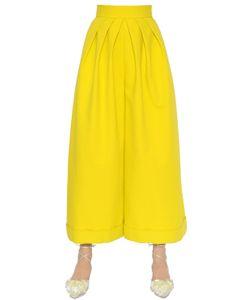 Delpozo   Wide Cropped Cotton Crepe Pants