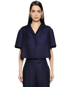 Salvatore Ferragamo | Cropped Short Sleeve Viscose Jacket