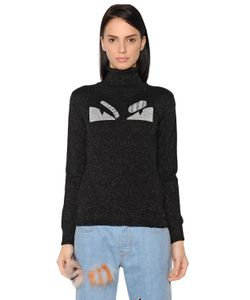 Fendi | Monster Lurex Wool Turtleneck Sweater